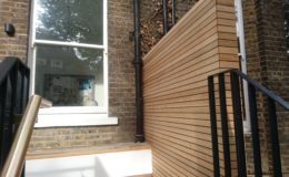 London – Steel balcony with redwood decking