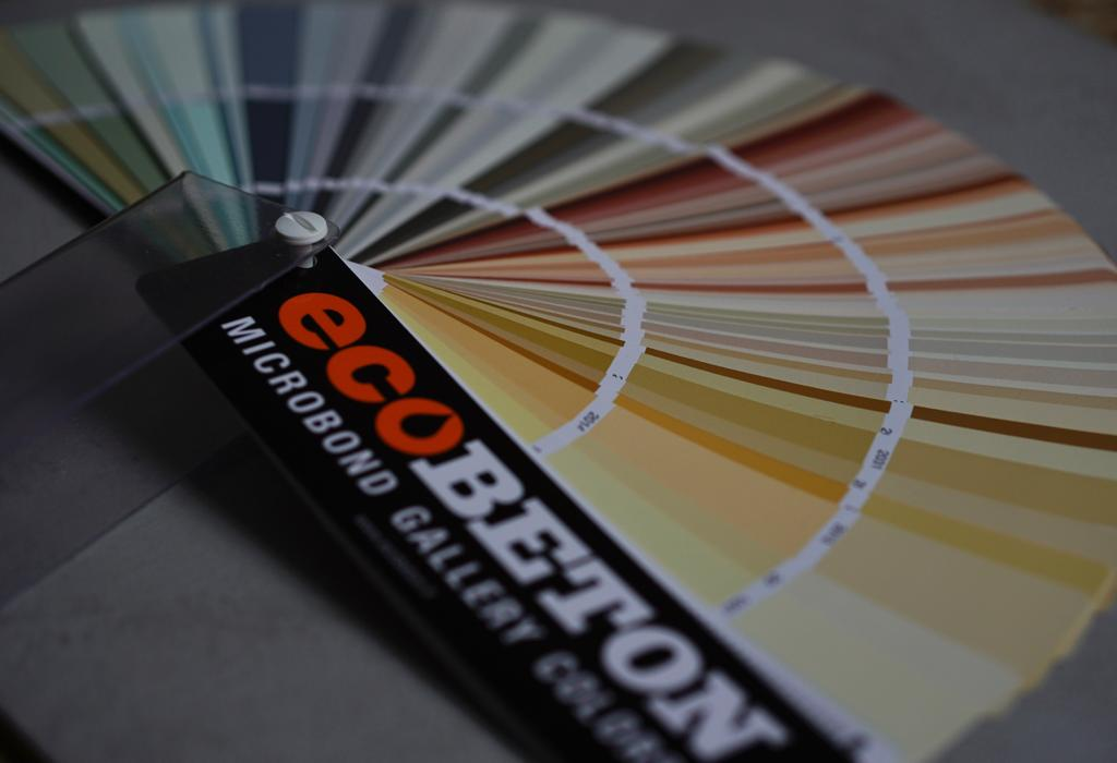 EcoBeton color chart - 400 colours of microcement