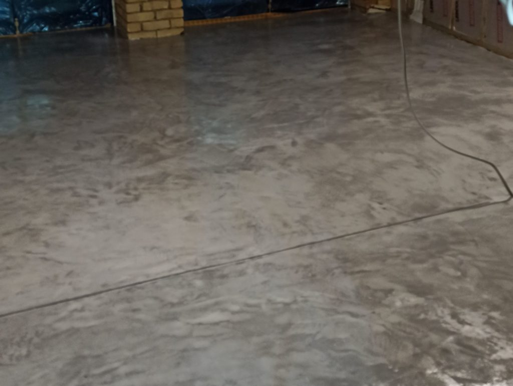 Once the sealers have been applied the micro-cement floor is ready for curing