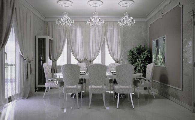 Cozy dining room in retro style