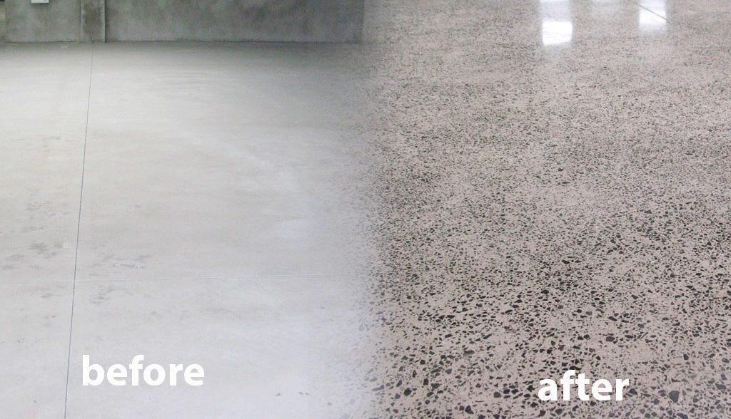 Concrete after polishing proces