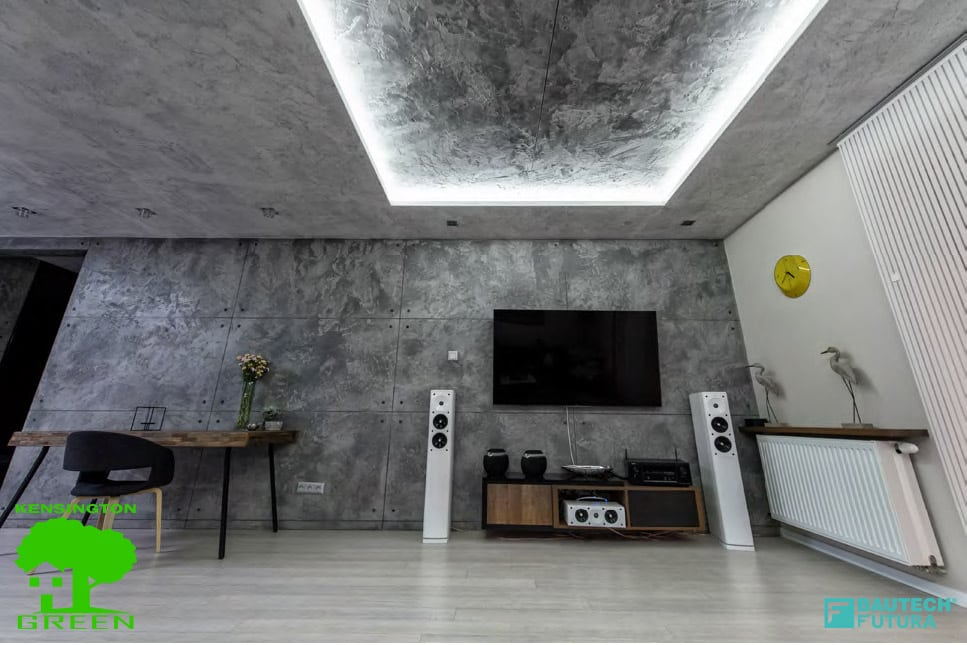 Architectural concrete walls and ceiling finnish