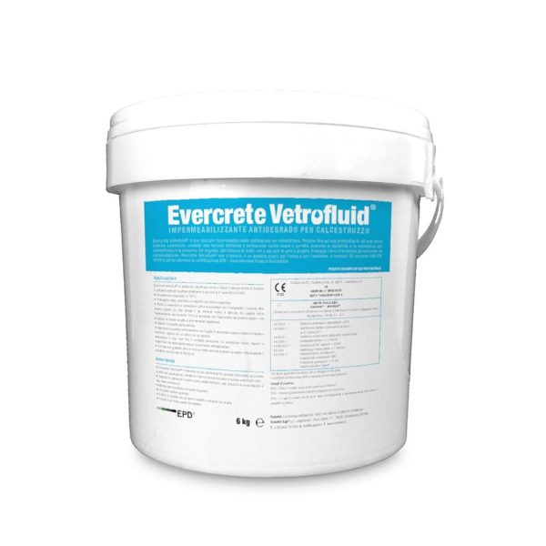 Vetrofluid - concrete densifier and waterproofer - type B waterproofing