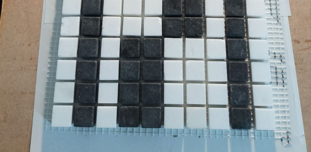 Hand made marble mosaics made in London