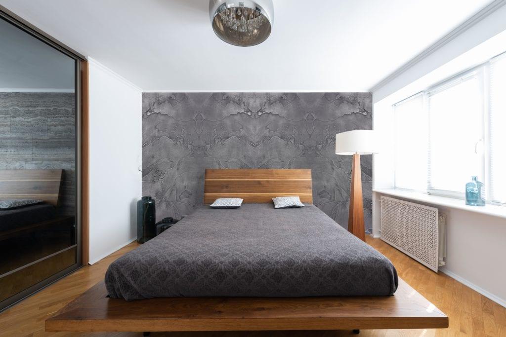 Liquid metal aluminium wall coating is perfect for feature walls